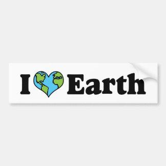 I Love Earth Bumper Sticker Car Bumper Sticker