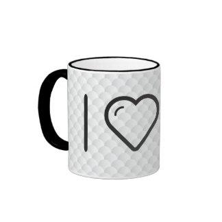 I Love Earth Clocks Ringer Coffee Mug