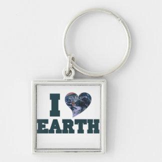 I Love earth day Keychain