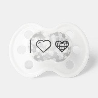 I Love Earth Hearts BooginHead Pacifier