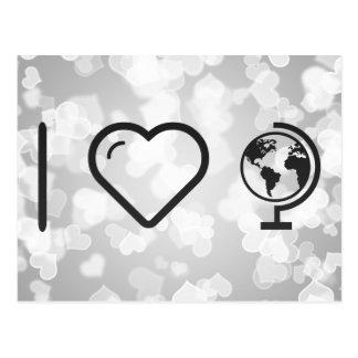I Love Earth Macrocosms Postcard