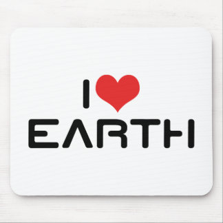 I Love Earth Mouse Pad