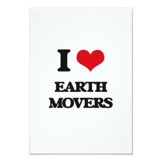 I love EARTH MOVERS 3.5x5 Paper Invitation Card