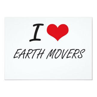 I love EARTH MOVERS 5x7 Paper Invitation Card