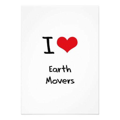 I love Earth Movers Invitations