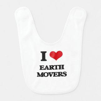 I love EARTH MOVERS Baby Bibs
