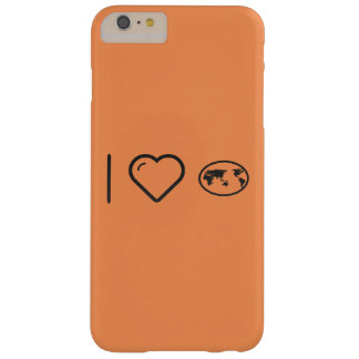 I Love Earth Plots Barely There iPhone 6 Plus Case