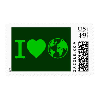 I Love Earth Postage