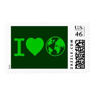 I Love Earth Postage