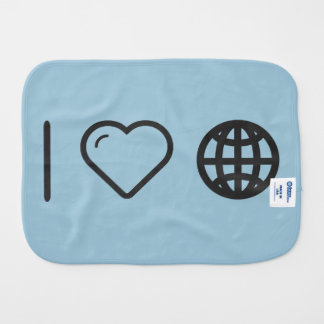 I Love Earth Prisons Burp Cloth