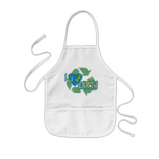 I Love Earth Recycle Apron
