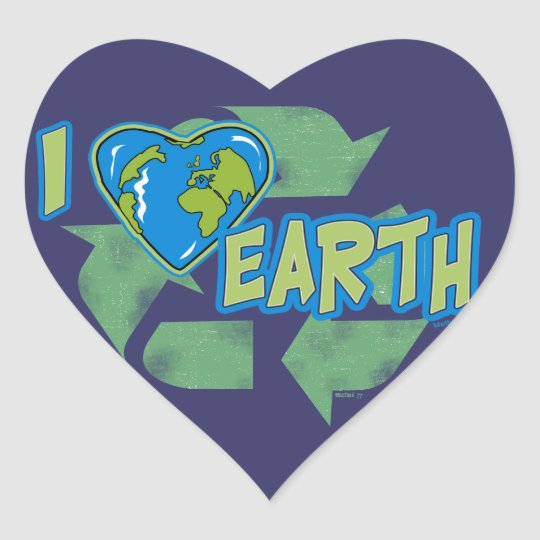 I Love Earth Recycle Sticker