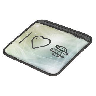 I Love Earth Rotations iPad Sleeves