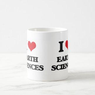 I Love Earth Sciences Classic White Coffee Mug