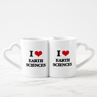 I Love Earth Sciences Couples' Coffee Mug Set