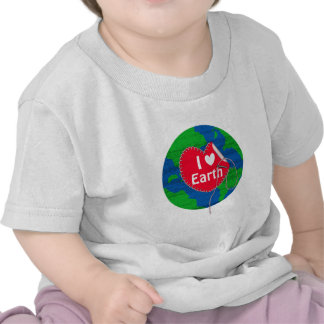 I love earth sewing heart t shirts