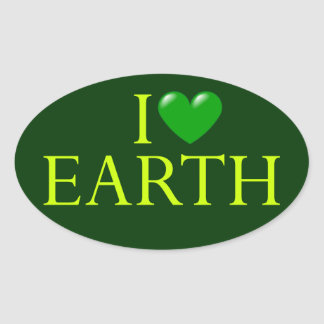"""I love Earth"" sticker"