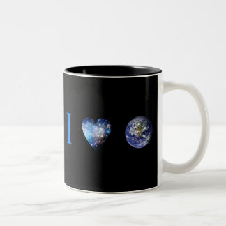 I Love Earth Two-Tone Coffee Mug