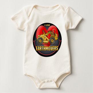 I Love Earthmover Scrapers Infant Creeper