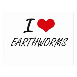 I love EARTHWORMS Postcard