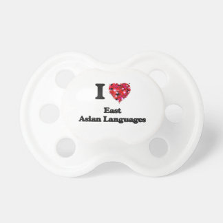 I Love East Asian Languages BooginHead Pacifier
