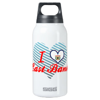 I Love East Bank, West Virginia 10 Oz Insulated SIGG Thermos Water Bottle