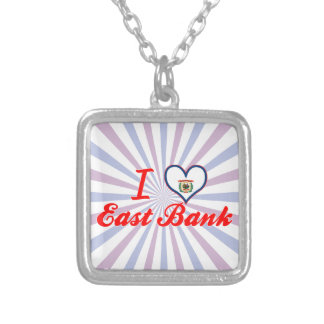 I Love East Bank, West Virginia Custom Necklace