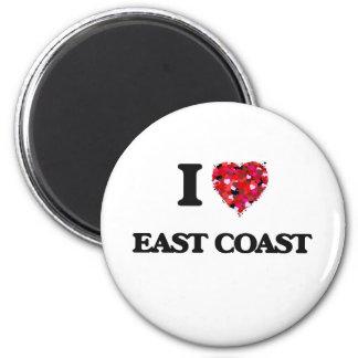 I love East Coast 2 Inch Round Magnet