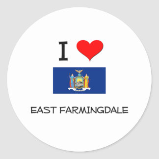 I Love East Farmingdale New York Stickers