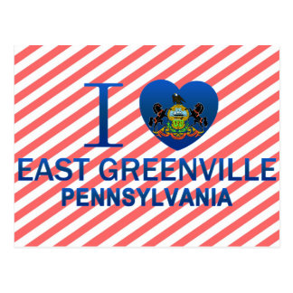 I Love East Greenville, PA Postcard