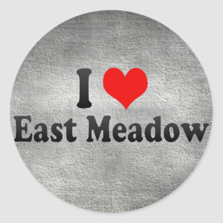 I Love East Meadow, United States Round Stickers