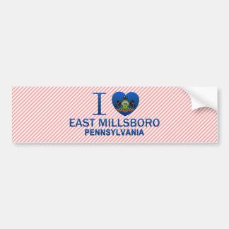 I Love East Millsboro, PA Car Bumper Sticker