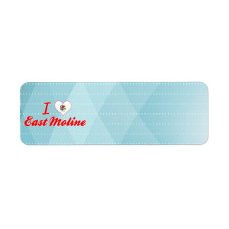 I Love East Moline, Illinois Return Address Labels