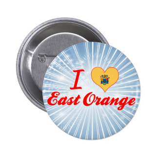 I Love East Orange New Jersey Buttons
