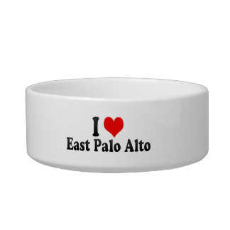 I Love East Palo Alto, United States Cat Water Bowls