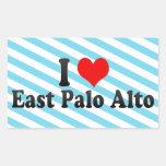 I Love East Palo Alto, United States Rectangular Sticker