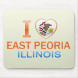I Love East Peoria, IL Mouse Pads
