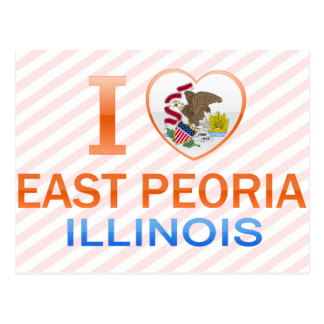 I Love East Peoria, IL Postcard