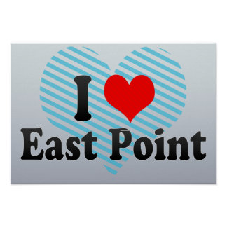 I Love East Point, United States Poster