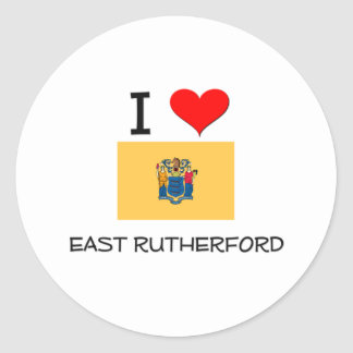 I Love East Rutherford New Jersey Classic Round Sticker