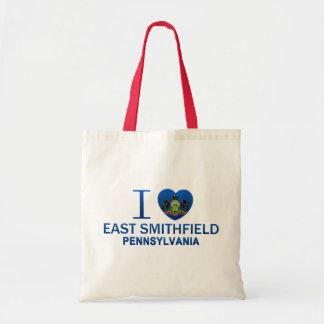 I Love East Smithfield, PA Canvas Bag