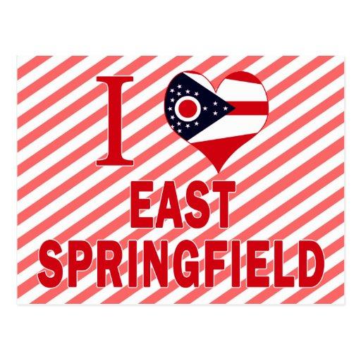 I love East Springfield, Ohio Post Card