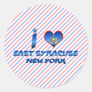 I love East Syracuse, New York Classic Round Sticker