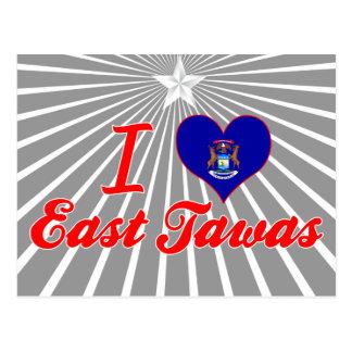 I Love East Tawas, Michigan Postcard