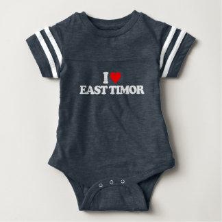 I LOVE EAST TIMOR BABY BODYSUIT