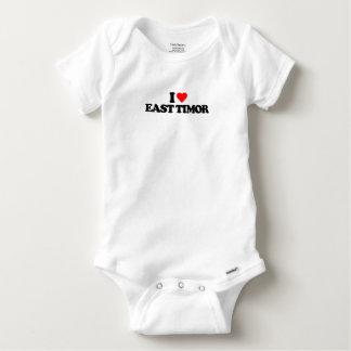 I LOVE EAST TIMOR BABY ONESIE