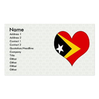 I Love East Timor Double-Sided Standard Business Cards (Pack Of 100)