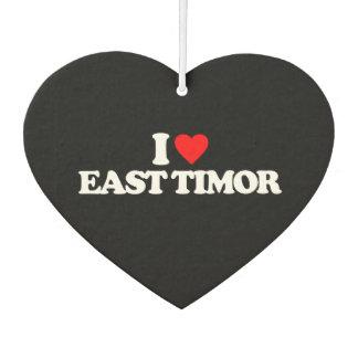 I LOVE EAST TIMOR CAR AIR FRESHENER