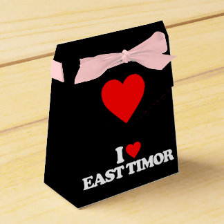I LOVE EAST TIMOR PARTY FAVOR BOXES