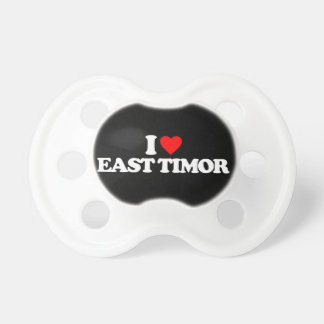 I LOVE EAST TIMOR PACIFIERS